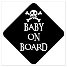 WARNING: BABY ON BOARD Canvas Art